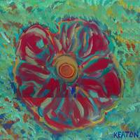 JOHNKEATONARTBrisht Red Flower JOHNKEATONART JOHNK