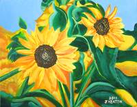 Sunflowers Painting JOHNKEATONART
