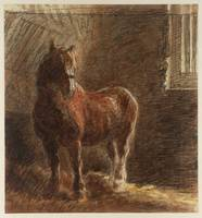 William Henry Hunt 'A Horse in a Stable',