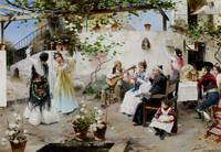 Juan García Ramos , A Dance for the Priest c. 1890