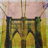 ORL-3068-3.Brooklyn Bridge, New York City in yello