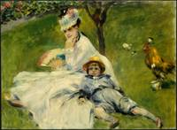 Madame Monet and her Son Pierre-Auguste Renoir, 18