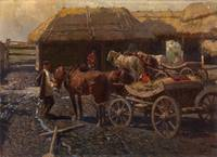 ROUBAUD, FRANTS (1856-1928) Staging Post in the Ca