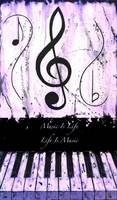Music Is Life - Life Is Music - Purple