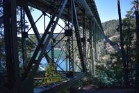 beneath deception-pass bridge