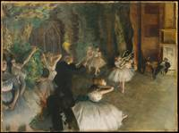 The Rehearsal of the Ballet Onstage,  Edgar Degas,