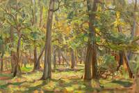 VICTOR WESTERHOLM, INTERIOR OF DECIDUOUS FOREST