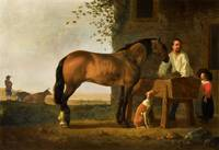 Aelbert Cuyp, Horse at the Trough