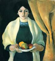 August Macke - Portrait with Apples - 1909