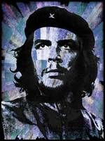 Che Guevara Revolution Blue