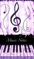 Music Notes Purple