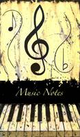 Music Notes Yellow