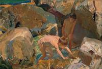 Children Looking for Shellfish by Joaquin Sorolla,