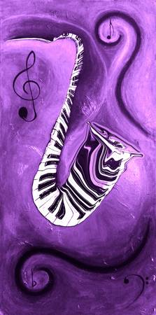 Piano Keys in a Saxophone Purple Music In Motion