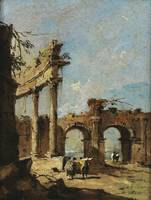 Francesco Guardi A CAPRICCIO OF A RUINED CORINTHIA