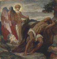 Frederic Leighton Study for 'Elijah in the Wildern