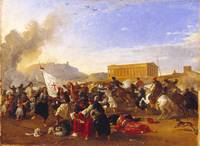 Franz Ludwig Catel, Battle Between the Turks and t