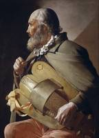 Georges de la Tour - Man Playing the Hurdy Gurdy [