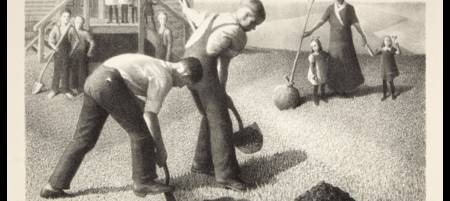 GRANT WOOD (1891-1942) Tree Planting Group