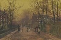 John Atkinson Grimshaw , A village street on Sunda