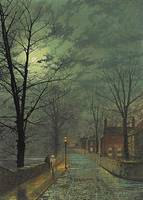 John Atkinson Grimshaw,  The Gossips, Bonchurch, I