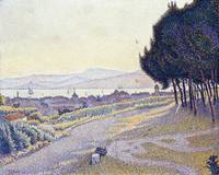 Pinewood, St. Tropez by Paul Signac