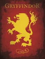 Alternative gryffindor emblem movie poster