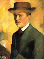 Self-Portrait with Hat, 1909 - August Macke