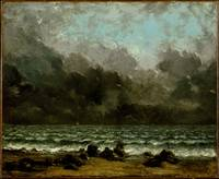 The Sea , Gustave Courbet