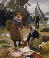 Victor Gabriel Gilbert - The Arrival of the Fishin