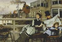 Waiting for the Ferry by James Tissot, 1876