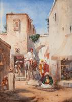 William James Müller (1812-1845) Street scene in C