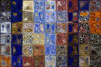 Mosaic Tile Evening Landscape.Tile Art Painting