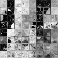 Shades of Gray Tile Mosaic. Tile Art Pai Art Prints & Posters by Mark Lawrence
