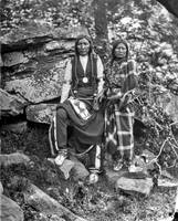 Yellow Bear and wife, (Arapaho), Indian Territory,