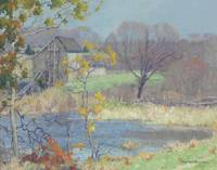 MAURICE BRAUN (1877-1941) POND AT OLD LYME, CONNEC