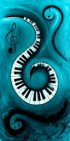 Aqua - Swirling Piano Keys - Music In Motion