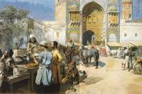 A Market In Isfahan by Edwin Lord Weeks