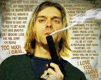 Kurt Cobain Nirvana With Gun And Suicide Note Pain