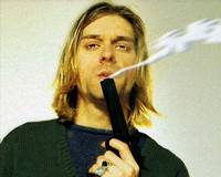 Kurt Cobain Nirvana With Gun Painting Macabre 1