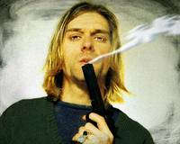Kurt Cobain Nirvana With Gun Painting Macabre 2