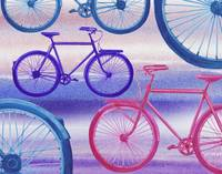 Abstract Bicycles Silhouettes Collection I