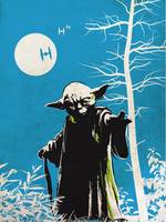 Alternative retro Yoda movie poster