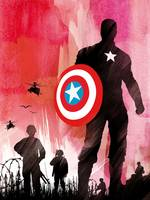 Alternative captain america art movie poster