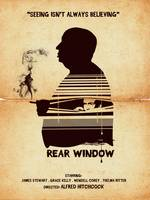 Alternative Hitchcock rear window movie poster