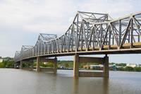 Steel Bridge Across Illinois River