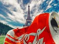 Coca-Cola Can Trash Oh Yeah - And The Eiffel Tower
