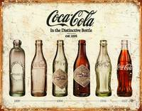 Coca-Cola Bottle Evolution Vintage Sign