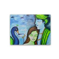 Radha Krishna Canvas Board - YesNo.in