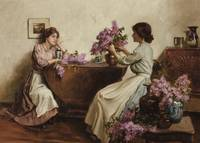 Albert Chevallier Tayler 1862-1925 WOMEN ARRANGING